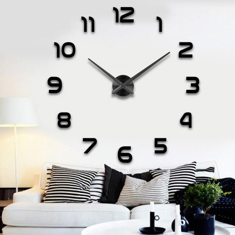 61cc5f9dff6 KIK KX7845 Designové 3D nalepovací hodiny 120cm černá od 499 Kč - Heureka.cz