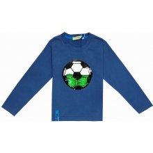 Chlapecké triko s flitry-KUGO M0137, Modrá