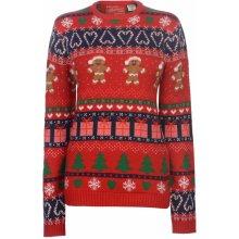 Star Christmas Knitted Jumper Ladies GB Fairisle