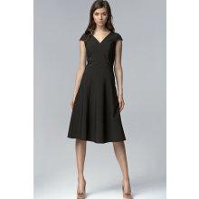 a18c436bde40 Koktejlové dámské šaty s výstřihem 418141 černá
