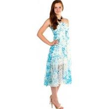 371c7e9ef56f TopMode dámské letní volné šaty s potiskem modrá