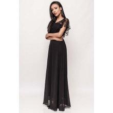 701fb23a819 Dámské dlouhé společenské šaty s krajkovým volánem Catherine