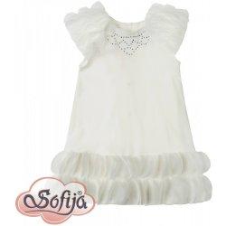Sofija Luxusní bavlněné šaty s kamínky LILIANA bílé od 599 Kč - Heureka.cz 63470915d2