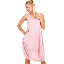 36cedb257102 TopMode plážové dámské bavlněné šaty růžová