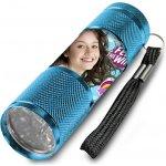 EUROSWAN Dětská hliníková LED baterka Soy Luna azurová Alu 9x3 cm