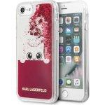 Pouzdro Karl Lagerfeld Peek a Boo TPU Case Glitter Fuchsia iPhone 7/8