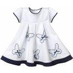 Sofija Luxusní bavlněné šaty Bonitka s motýly bílé a768c71719