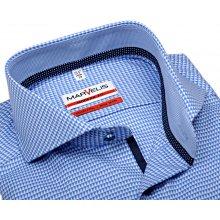 Marvelis Modern Fit – světle modrá košile s vetkaným vzorem a vnitřním  límcem b1c6f0b165