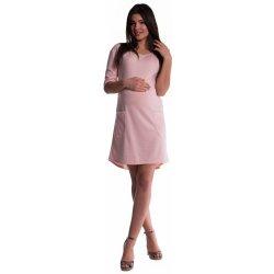 Be MaaMaa těhotenské a kojící šaty pudrově růžové d1ee9bc744