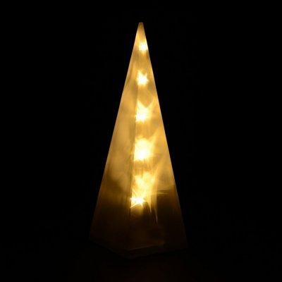 Goleto Vánoční pyramida 30 cm 10 LED teplá bílá