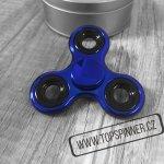 Fidget spinner kovový modrý