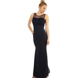 Recenze Dlouhé plesové šaty s krajkovým vrškem 290360 tmavě modrá ... 645fe4fc77