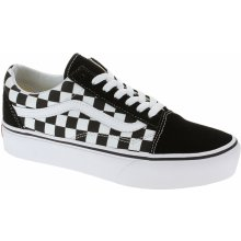Vans Old Skool Platform Checkerboard Black True White 2455a1b5565