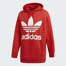Adidas Originals Mikina Trefoil Oversize Red 2eba3831f78