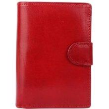 ITALSKÉ Červené malé dámské peněženky 8075 rosso