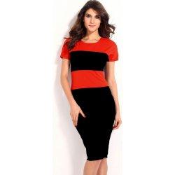 Dámské šaty s širokými pruhy Viviane a zipem středně dlouhé oranžová ... bce55bdb99