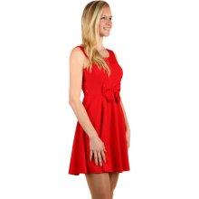 TopMode jednobarevné šaty s odhalenými zády červená 0fc3336535