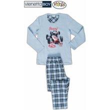 dětské pyžamo dlouhé Závodní auto světle modrá