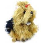 plyšový pes jorkšír stojící 23 cm