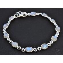 Aranys stříbrný náramek měsíční kámen 0288