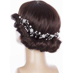 11f6bfdf613 Fashion Icon Svatební ozdoba do vlasů - čelenka Wedding day větvička s perly  a krystalky CV0110-12