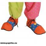 Boty klaunské modro-oranžové