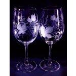 Lsg-Crystal Skleničky broušené na bílé víno dekor Víno WW-294 250 ml 6 ks