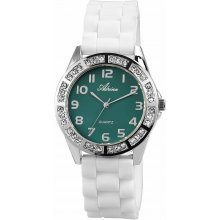 Adrina Women Analog Watch Silver White