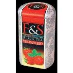 F&S černý sypaný čaj Jahoda 200 g