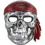 Pirátská maska stříbrná