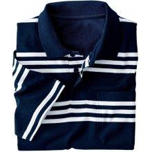 Blancheporte Pruhované polo tričko s krátkými rukávy nám. modrá/bílá