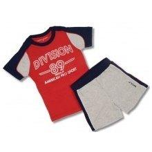 Dětská letní souprava kraťase a tričko červené