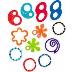 Bright Starts Kousátko kroužky Oball 12ks 0m+