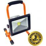 LED reflektor Solight 20W, přenosný, nabíjecí, 1600lm, oranžovo-černý WM-20W-D