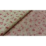 Bavlněná látka LIBERTY růžičky smetanové krémové šíře 160 cm