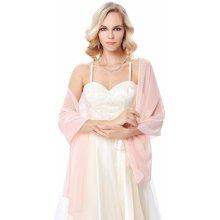 Přehoz přes ramena ruce šál luxusní KK000229-3 růžová