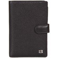 GIUDI pánská černá kožená peněženkadokladovka 7215