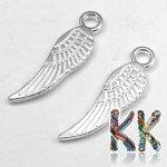 Přívěsek křídlo - 17 x 5 x 1 mm - Stříbrná
