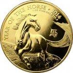 Lunární Zlatá investiční mince Rok Koně 1 Oz The Royal Mint 2014