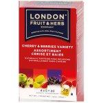 LONDON FRUIT & HERB Cherry Berries Variety variace ovocných čajů 4 x 5 x 2 g