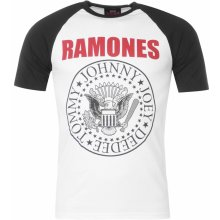 Official Ramones T Shirt Mens Red Text Seal