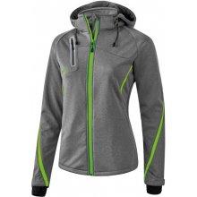 Erima Basics softshellová funkční bunda Šedivá/Zelená neon