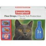 Beaphar Kvapky proti blchám a klieštom pre mačky - 3ks