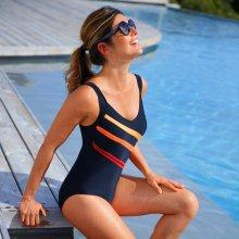 Blancheporte Jednodílné plavky černá/oranžová