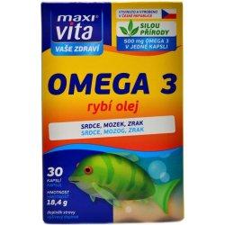MaxiVita Omega3 rybí olej 30 tablet