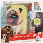 Universal The Secret Life Of Pets Mel Wash pěna do koupele 250 ml + mycí houba dárková sada