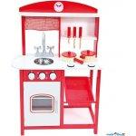Bino kuchyňka dřevěná červená