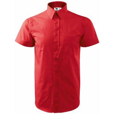 Adler košile short sleeve červená