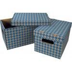 Emba Krabice úložná s víkem A4 / 30 x 22,5 x 20 cm modrá
