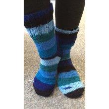 ponožky pletené samovzorovací modrá tulip b4cac12f59